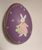 1988 Tin Egg - Purple With Bunny *MM Easter