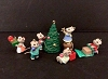 1996 Tiny Christmas Helpers Mice set/6 *Miniature