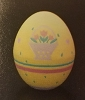 1989 Egg - Yellow with Flowers *MM Easter