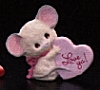 1987 Love Ya! Mouse *MM Valentine's