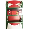 Holiday Display Shelf: Red and Green Sled For Miniatures