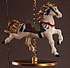 1989 Christmas Carousel Horse - Snow (NB)