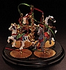 1989 Christmas Carousel Horse Stand Only (DB)