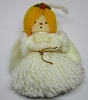 1973 Yarn Angel  White Wings Yarn Dress