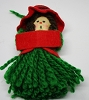 1973 Yarn Green Girl Caroler