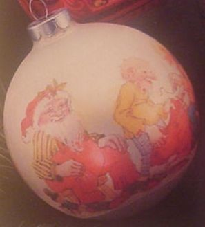 1973 Santa And Elves Ball  MINT IN BOX Hallmark Keepsake Ornament 250XHD101-5