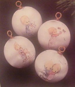 1975 Betsey Clark Set Of 4 Balls Hallmark Keepsake Ornament 450QX168-1
