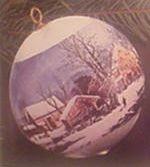 1975 Currier And Ives Ball (MIB)  Hallmark Keepsake Ornament 250QX164-1