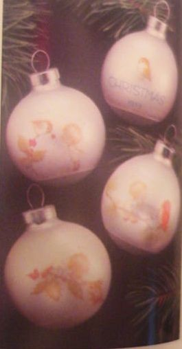 1975 Little Miracles Set Of 4 Balls (NB) Hallmark Keepsake Ornament 500QX140-1