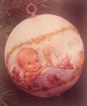 1976 Baby's First Christmas Ball- Rare (NB) Hallmark Keepsake Ornament 250QX211-1