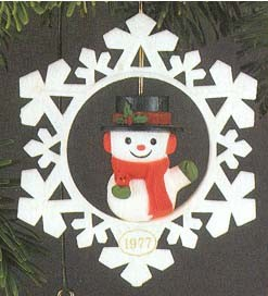 1977 Twirl About Snowman (NB)  Hallmark Keepsake Ornament 450QX190-2-2