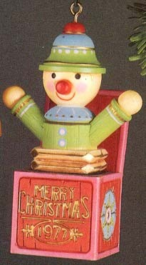 1977 Yesteryears Jack In Box  (DB) Hallmark Keepsake Ornament 600QX171-5-2-2