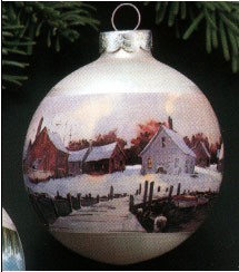 1977 Beauty of America Wharf Ball (NB) Age Spots Hallmark Keepsake Ornament 250QX161-5