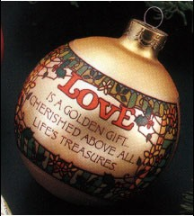 1977 Love Ball (SDB) Hallmark Keepsake Ornament 350QX262-3