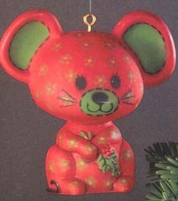 1978 Calico Mouse (NB) Hallmark Keepsake Ornament 450QX137-6