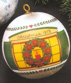 1978 New Home Ball  Hallmark Keepsake Ornament 350QX217-6