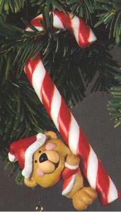 1979 A Christmas Treat  (NB)  Yellowing on candy cane Hallmark Keepsake Ornament 500QX134-7