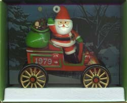 1979 Here Comes Santa Motorcar 1st MIB With Price Tag Hallmark Keepsake Ornament 900QX155-9-2-2