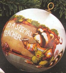 1979 Teacher-Ball Hallmark Keepsake Ornament 350QX213-9