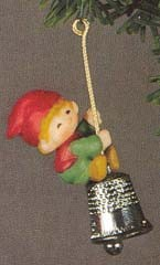 1980 Thimble 3rd Elf Bellringer (NB) Hallmark Keepsake Ornament 400QX132-1