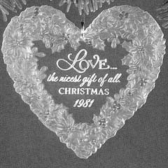 1981 Love-Acrylic   Hallmark Keepsake Ornament 550QX502-2
