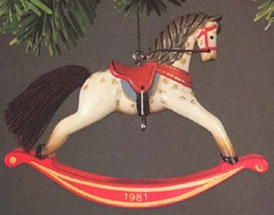 1981 Rocking Horse 1st (MIB) Hallmark Keepsake Ornament 900QX422-2