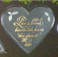 1982 Love Acrylic (SDB) Hallmark Keepsake Ornament 550QX304-3