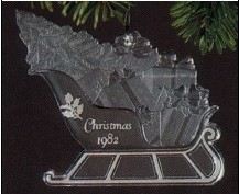 1982 Holiday Highlights Sleigh  Acrylic (NB) Hallmark Keepsake Ornament 550QX309-3