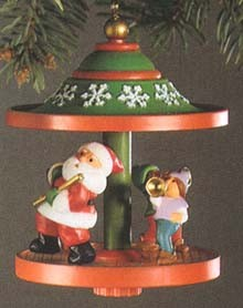 1983 Carousel 6th Santa and Elves Hallmark Keepsake Ornament 1100QX4019