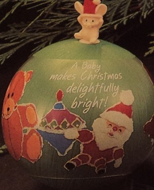1984 Grandchild's First Christmas- Satin Ball  Hallmark Keepsake Ornament 450QX257-4