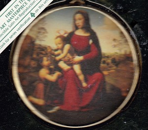 1984 Art Masterpiece - Madonna & Child & St. John 1st Hallmark Keepsake Ornament 650QX349-4