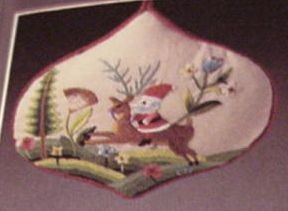 1984 Santa *Embroidered Hallmark Keepsake Ornament 750QX458-4