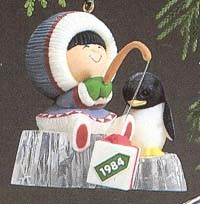 1984 Frosty Friends 5th- Fishing  MIB Hallmark Ornament at Ornament Mall