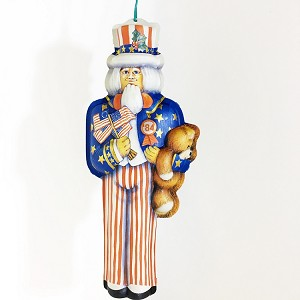 1984 Uncle Sam Pressed Tin Hallmark Keepsake Ornament 600QX449-1