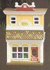1985 Nostalgic Houses & Shops 2nd Old Fashioned Toy Shop Hallmark Keepsake Ornament 1375QX497-5