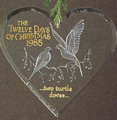 1985 Twelve Days Of Christmas 2nd (SDB) Hallmark Keepsake Ornament 650QX371-2