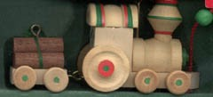 1985 Wood Childhood Toys 2nd Train  Hallmark Keepsake Ornament 700QX472-2