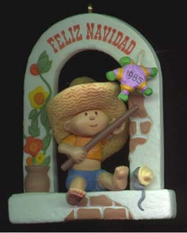 1985 Windows Of The World 1st Feliz Navidad Hallmark Keepsake Ornament 975QX490-2