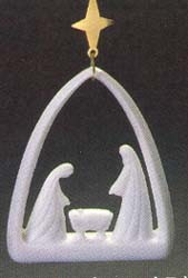 1986 Miniature Creche 2nd- Porcelain Hallmark Keepsake Ornament 900QX407-6