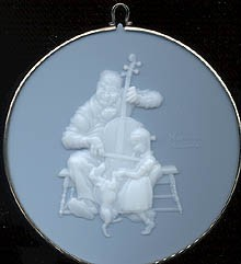1987 Norman Rockwell-Cameo 8th (NB) Hallmark Keepsake Ornament 775QX370-7-2