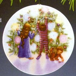 1987 Collector's Plate-Light/Christmas 1st  Plate Only (NB)   Hallmark Keepsake Ornament 800QX481-7-2