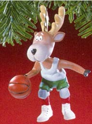1988 Reindeer Champs 3rd Prancer Hallmark Keepsake Ornament 750QX405-1