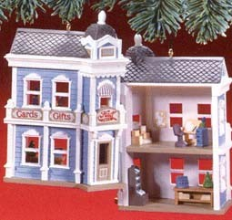 1988 Nostalgic Houses & Shops 5th Halls Bro's MIB Hallmark Keepsake Ornament 14500QX401-4
