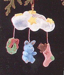 1989 Baby's First Christmas *Miniature (SDB) Hallmark Keepsake Ornament 600QXM573-2