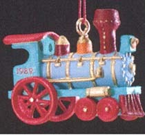 1989 Noel R.R. 1st Locomotive *Miniature Hallmark Keepsake Ornament 850QXM576-2