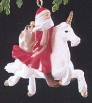 1989 Santa's Magic Ride Special Edition *Miniature Hallmark Keepsake Ornament 850QXM563-2