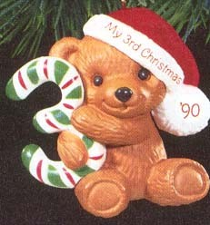 1990 Child's Age: Child's 3rd Christmas Bear  Hallmark Keepsake Ornament 675QX486-6