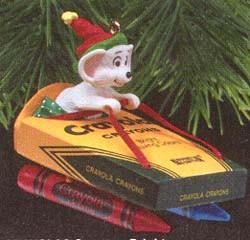1990 Crayola Crayon 2nd  (Signed by Ken Crow with KC) Hallmark Keepsake Ornament 875QX458-6-2