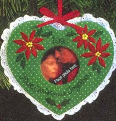 1990 Our First Christmas Together-Photo Holder  Hallmark Keepsake Ornament 775QX488-6