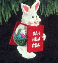 1990 Billboard Bunny Hallmark Keepsake Ornament 775QX519-6